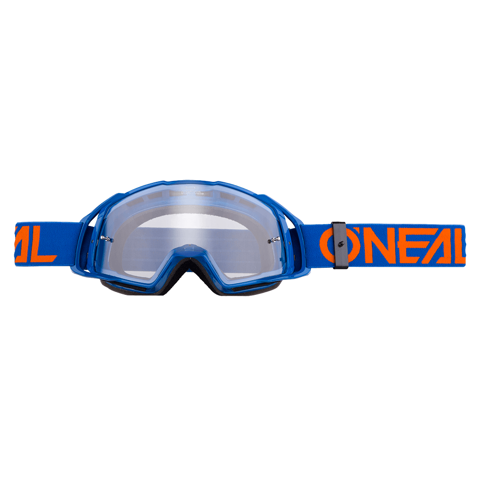 Maschera O'Neal B20 Flat Clear UNICA BLUE/ORANGE