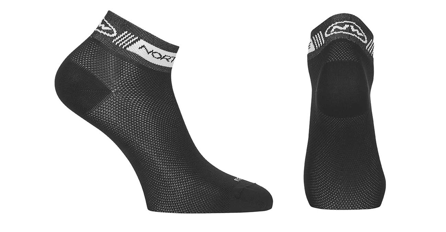 Calze Ciclismo Donna Northwave Pearl Sock BLACK-WHITE