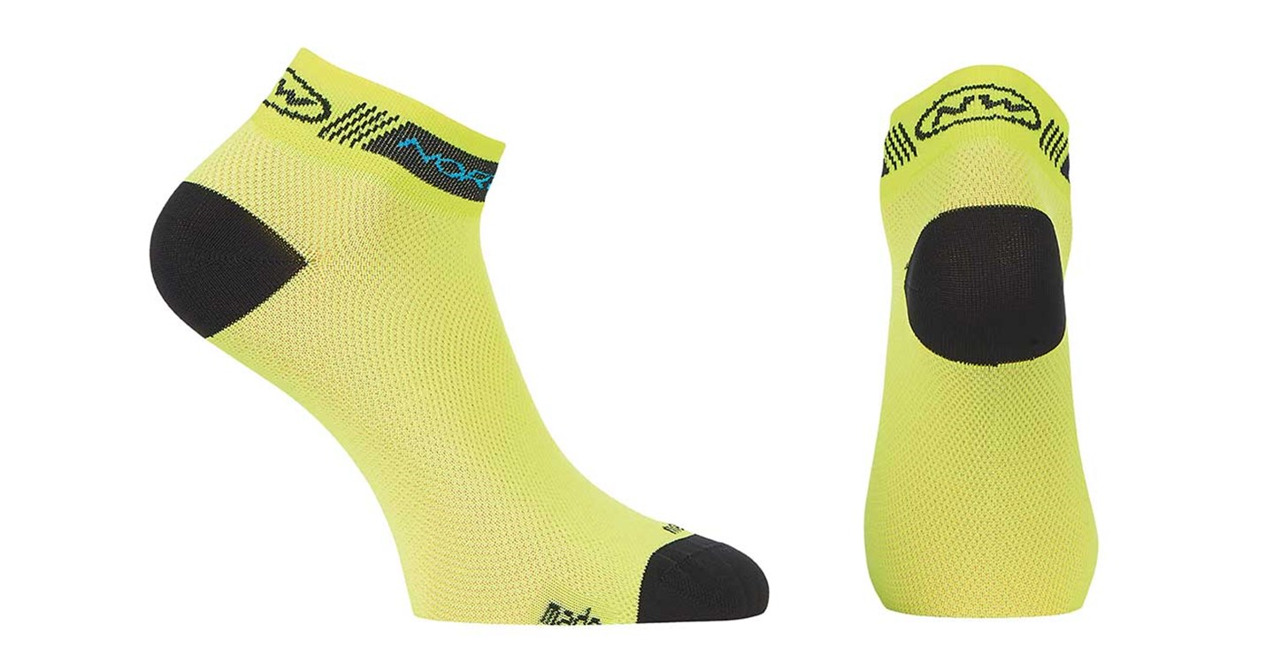 Calze Ciclismo Donna Northwave Pearl Sock YELLOW FLUO-BLACK