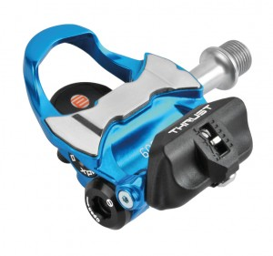 Pedali Xpedo Clipless THRUST E - Nero/blu, 9/16