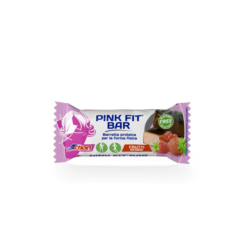 ProAction PINK FIT BAR Frutti Rossi - Barretta 30 gr.