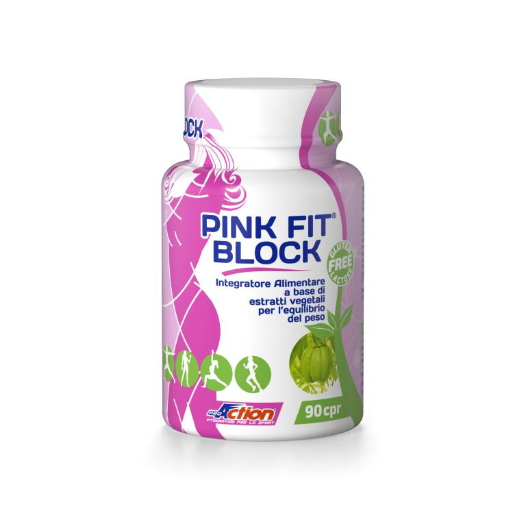 ProAction PINK FIT BLOCK - Barattolo 90 cpr.