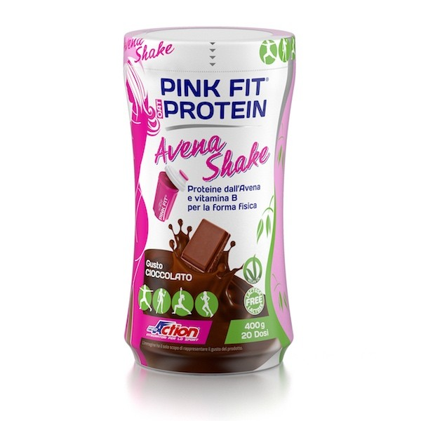 ProAction PINK FIT OAT PROTEIN Cioccolato - Barattolo 400 gr.