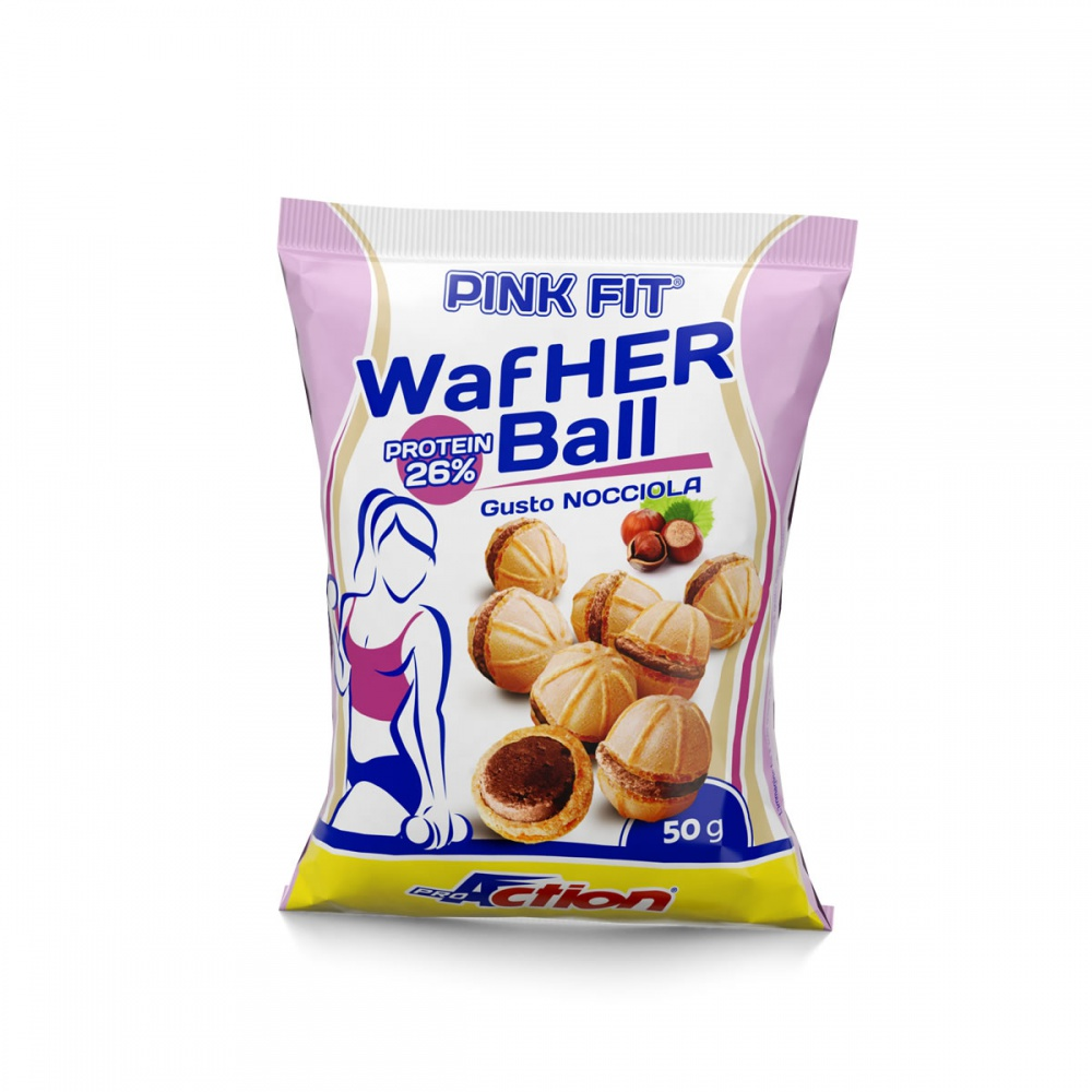 ProAction PINK FIT WAFHER BALL Nocciola - Busta 50 gr.