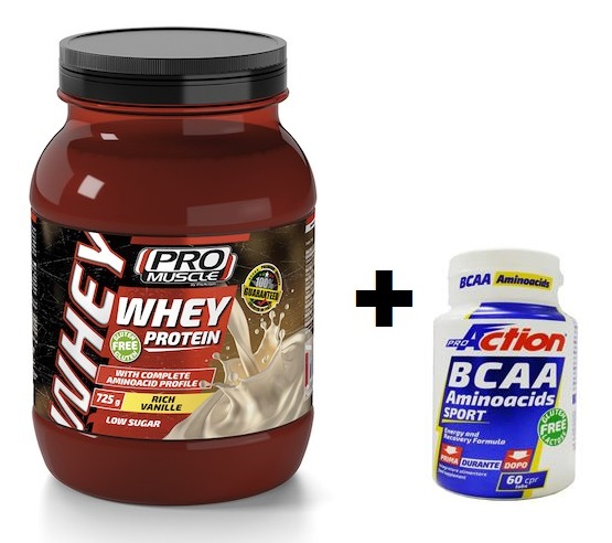 Promo Bundle WHEY PROTEIN Rich Vanille 725 gr. + BCAA 60cpr.
