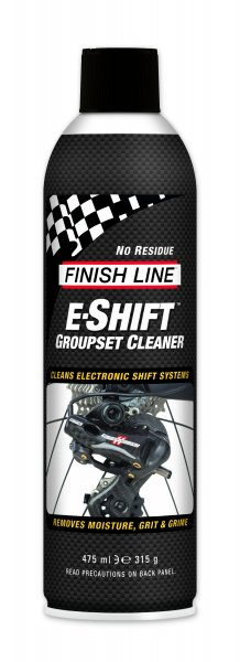 Pulente Finish Line E-Shift per Gruppo Cambio Elettronico Aerosol 475 ml.