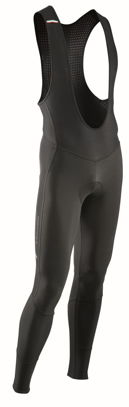 Pantaloni Ciclismo Lunghi a Salopette Northwave Dynamic Bibtights Mid Season Gel Pad BLACK