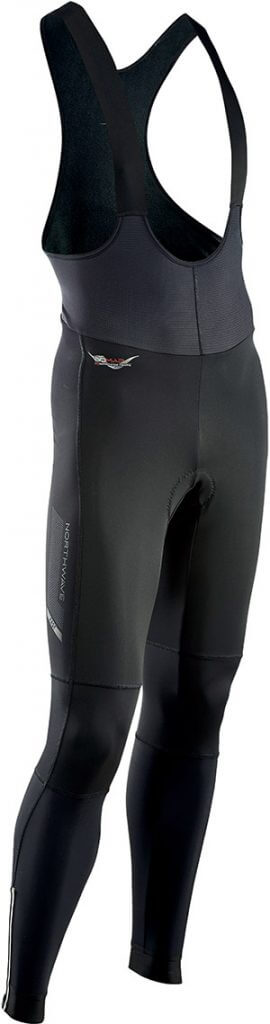 Pantaloni Ciclismo Lunghi a Salopette Northwave Fast Bibtights Mid Season BLACK
