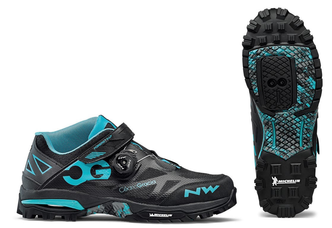 Scarpe Northwave All Mountain Enduro Mid BLACK-AQUA
