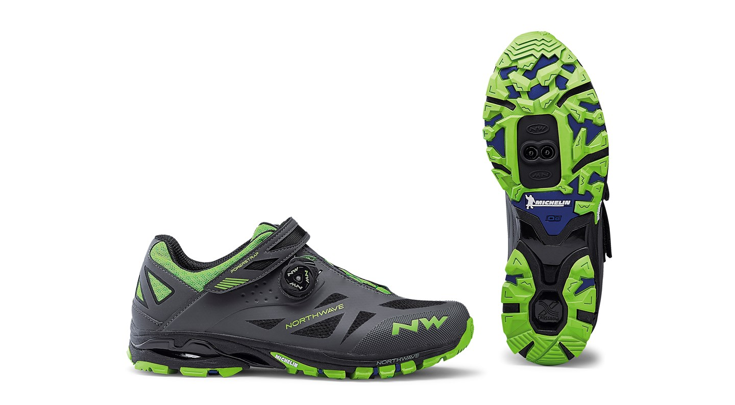 Scarpe MTB Northwave Spider Plus 2 ANTHRA-GREEN