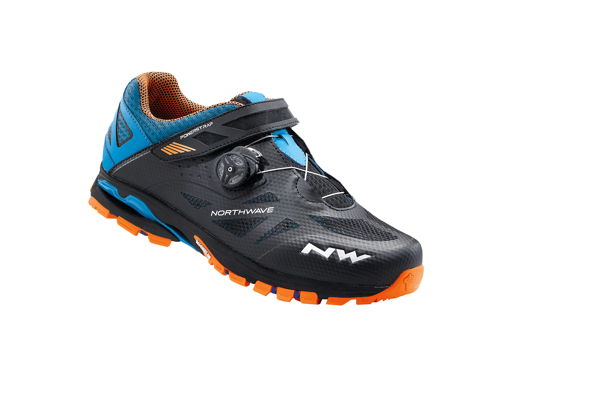 Scarpe MTB Northwave Spider Plus 2 BLACK-GREEN-ORANGE