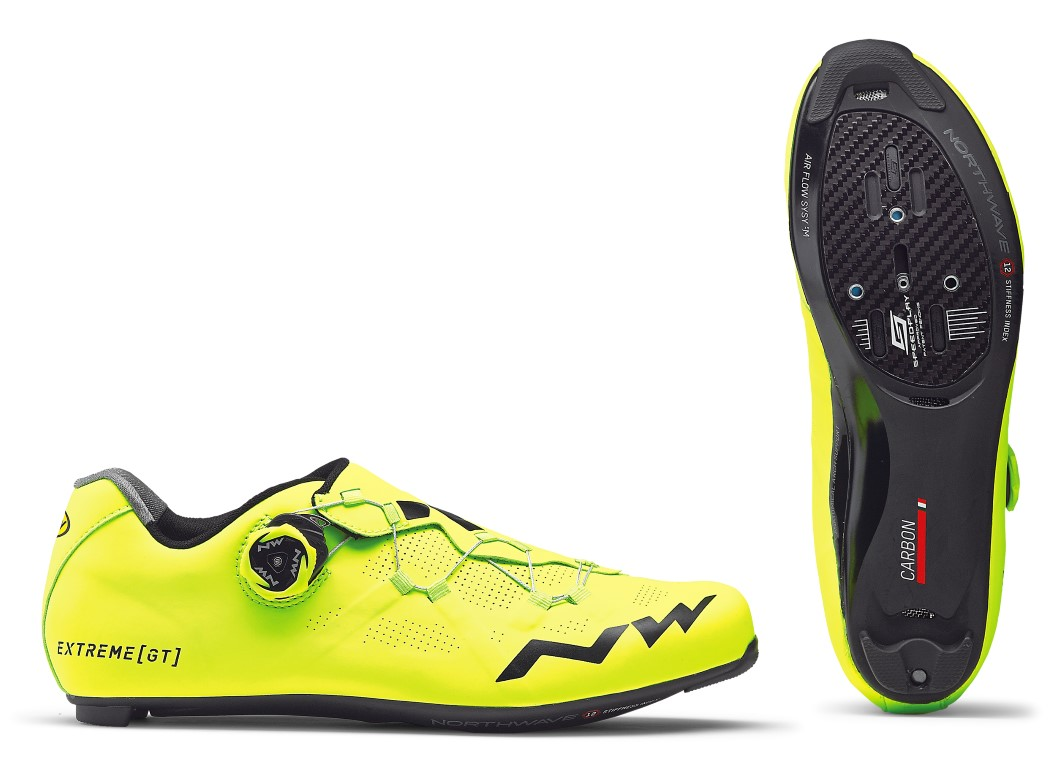 Scarpe Ciclismo da Strada Northwave Extreme GT  YELLOW FLUO