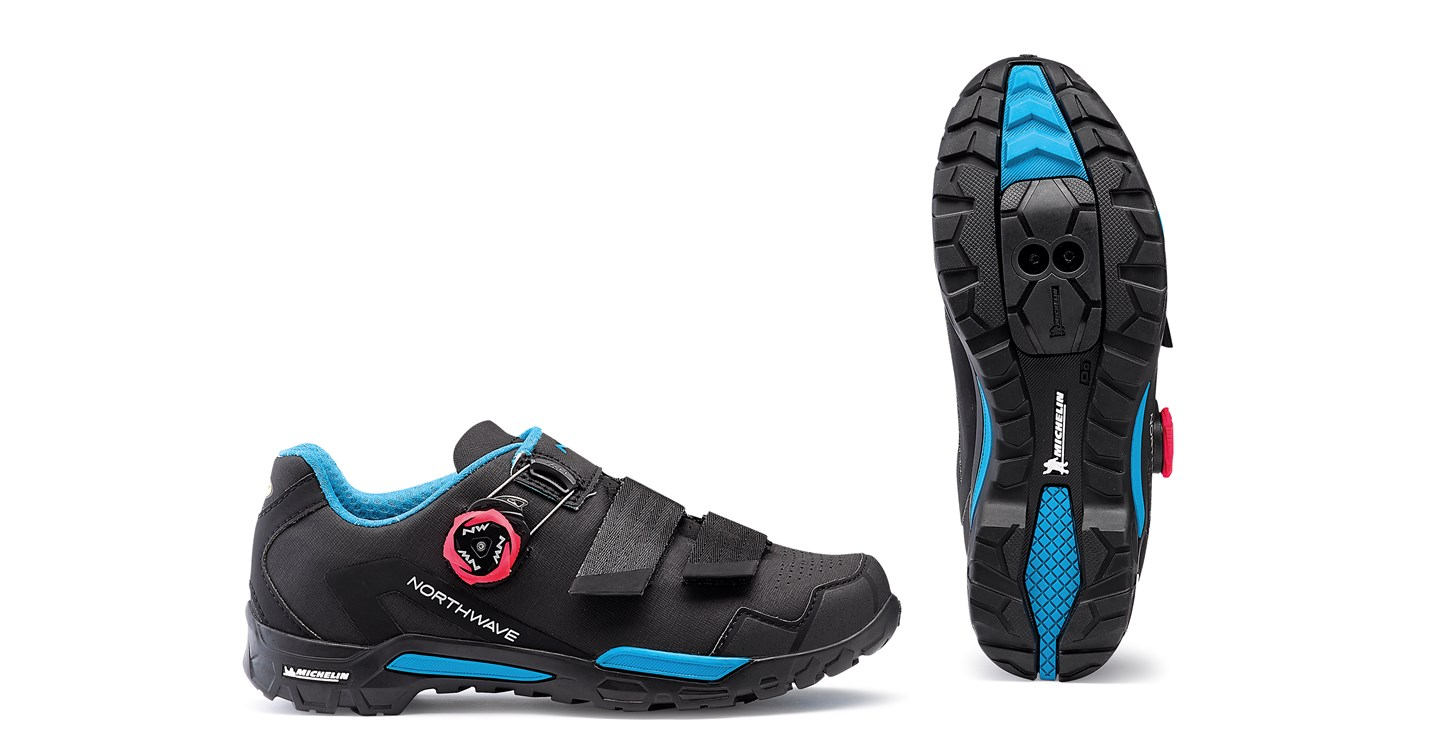 Scarpe MTB Donna Northwave Outcross 2 Plus Wmn BLACK-AQUA