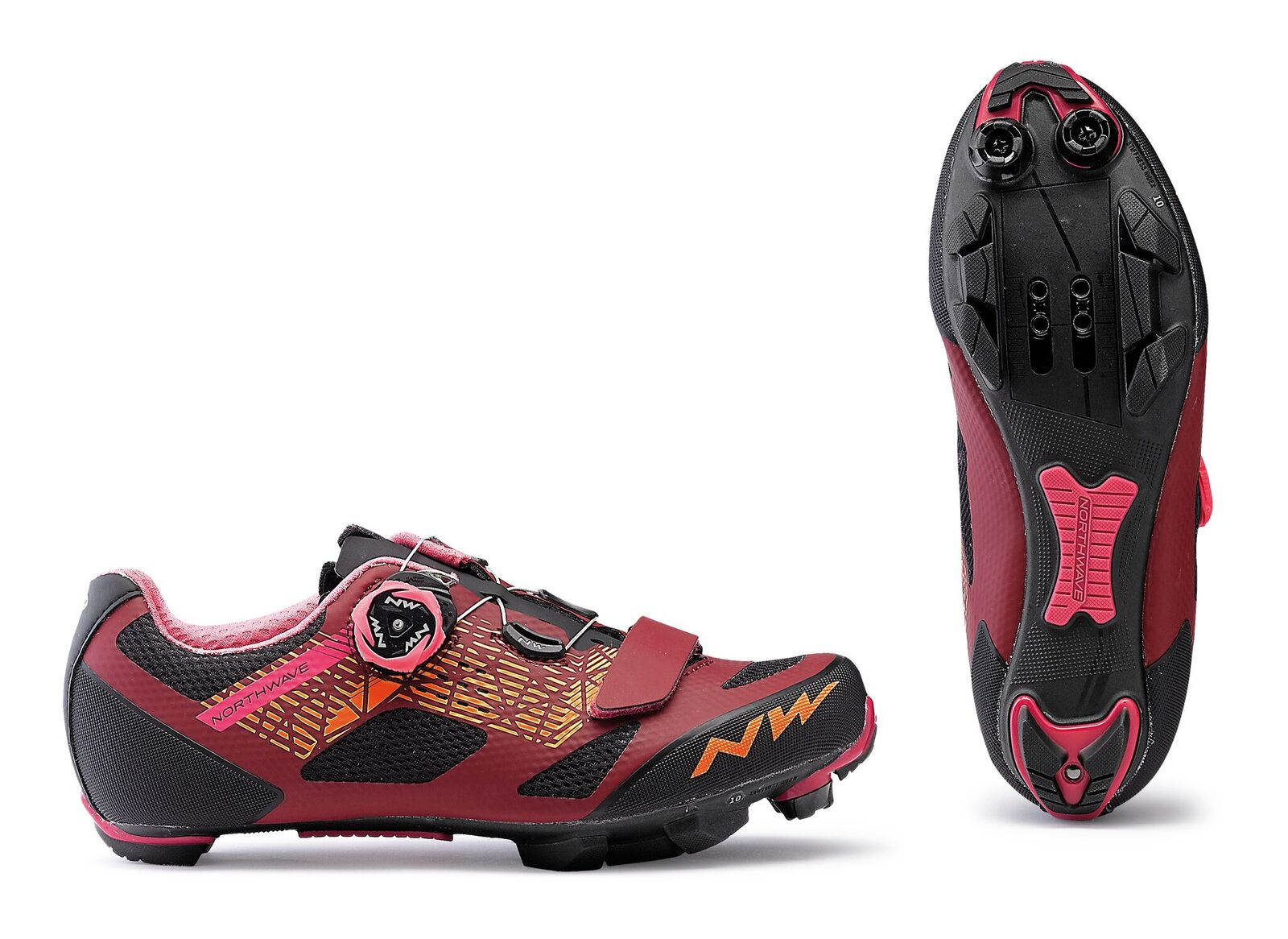 Scarpe MTB Donna Northwave Razer Wmn DARK RED-BLACK