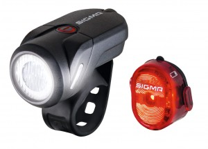 Set luci LED a batteria Sigma Aura 35USB - Nugget II incl.