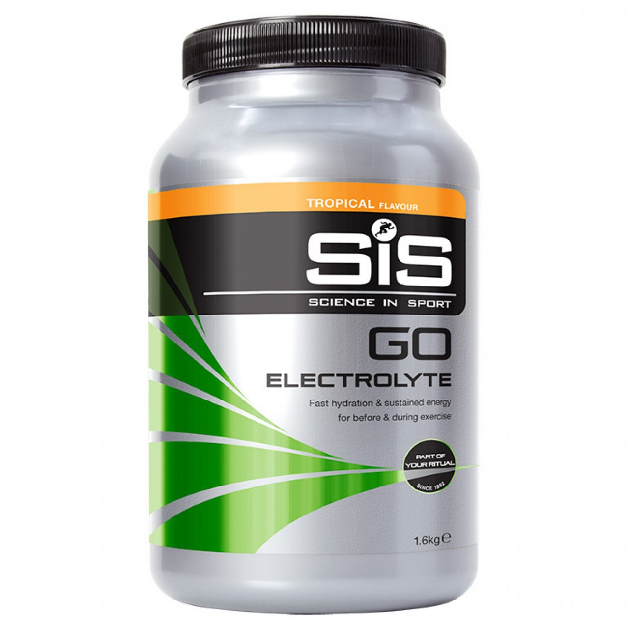 SIS Go Electrolyte Powder Tropical. Barattolo 1,6 kg.