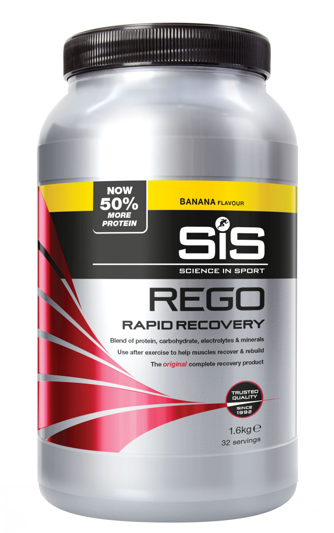 SIS Rego Rapid Recovery Banana. Barattolo 1,6 kg.