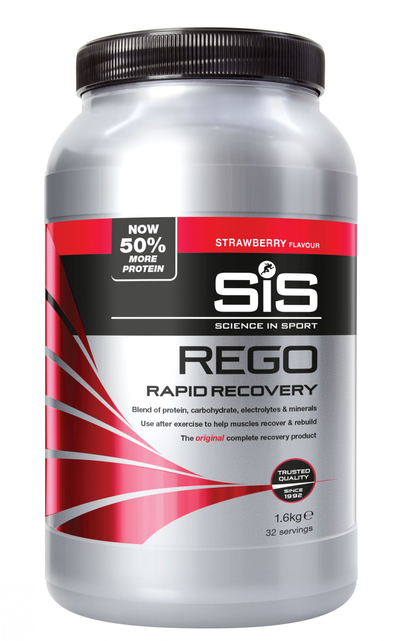SIS Rego Rapid Recovery Fragola. Barattolo 1,6 kg.