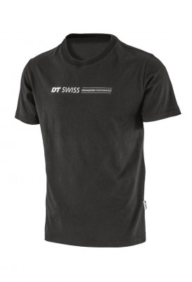T-Shirt DT Swiss Engineering Performance - nero, con stampa, T. M