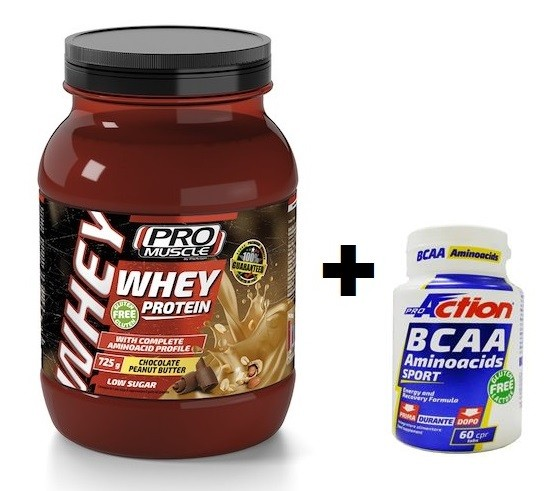 Promo Bundle WHEY PROTEIN Choco Peanut Butter 725 gr. + BCAA 60cpr.