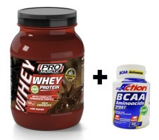 Promo Bundle WHEY PROTEIN Rich Chocolate 725 gr. + BCAA 60cpr.